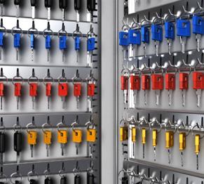 Schlüsselschränke für Autohäuser, Immobilien und Schlüsselmanagement