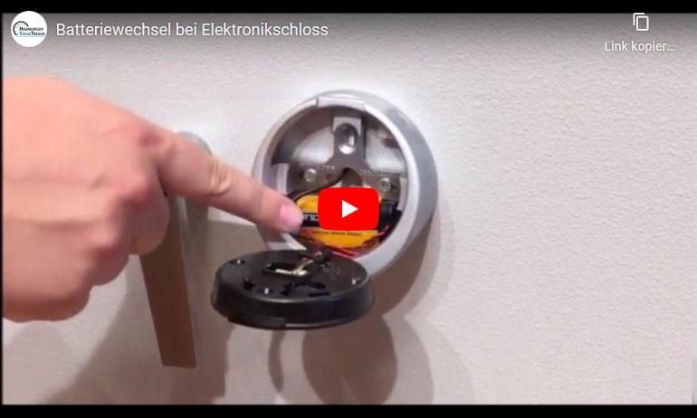 Video zum Batteriewechsel von Elektronikschlössern bei Tresoren