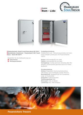 Brandschutztresor - feuersichere Tresore - Prospekt 2