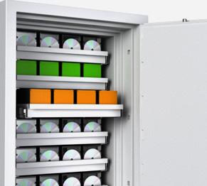 Datensicherungsschränke und Datensicherungstresore für Blu-Ray-Discs, CD-ROMs, USB-Sticks, Disketten, Mikrofilmen, Datenbändern und mehr