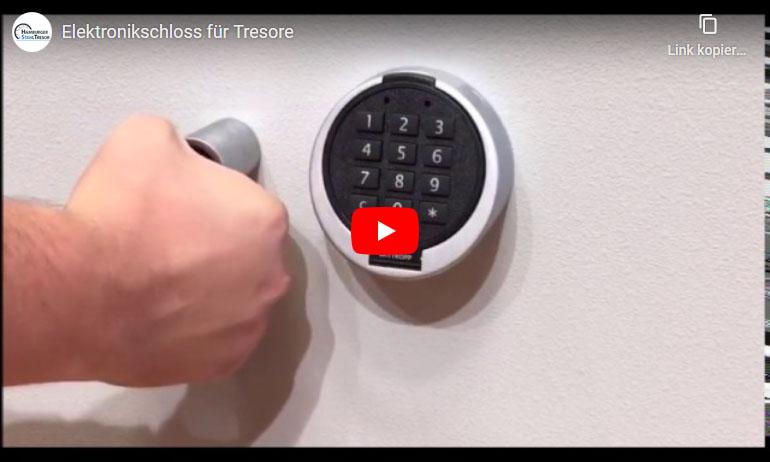 Video zum Elektronikschloss für Tresore und Safes