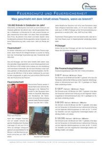 Feuerschutz und Feuersicherheit bei Tresoren