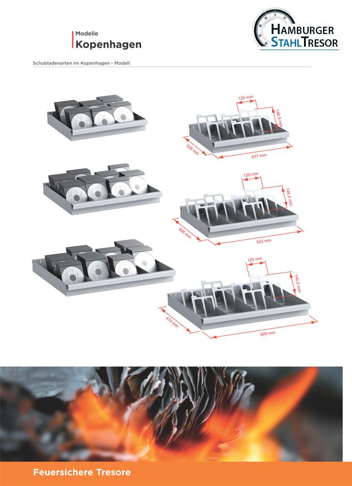 Feuersichere Tresore für Datenträger Baureihe Kopenhagen - Prospekt 2