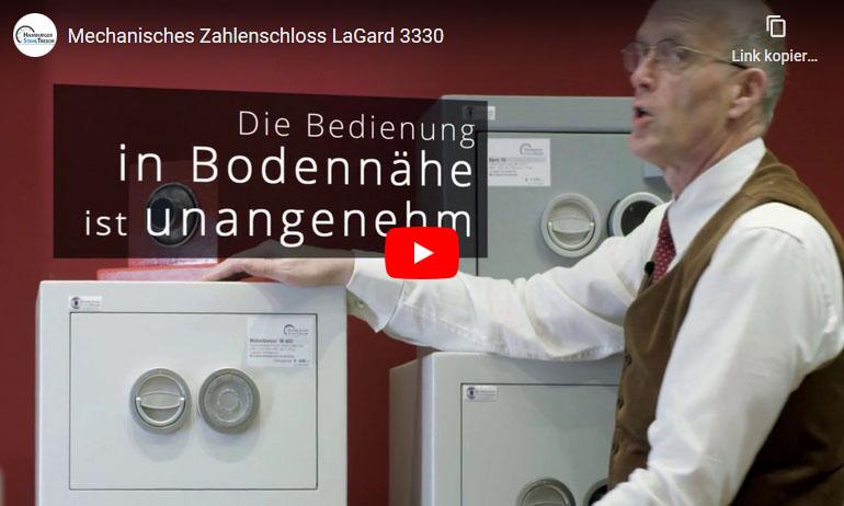 Video zum mechanischem Zahlenschloss LaGard 3330