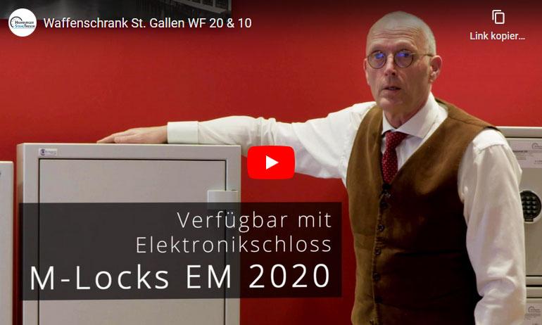 Video zu den Waffenschränken St. Gallen WF 20 und WF 10