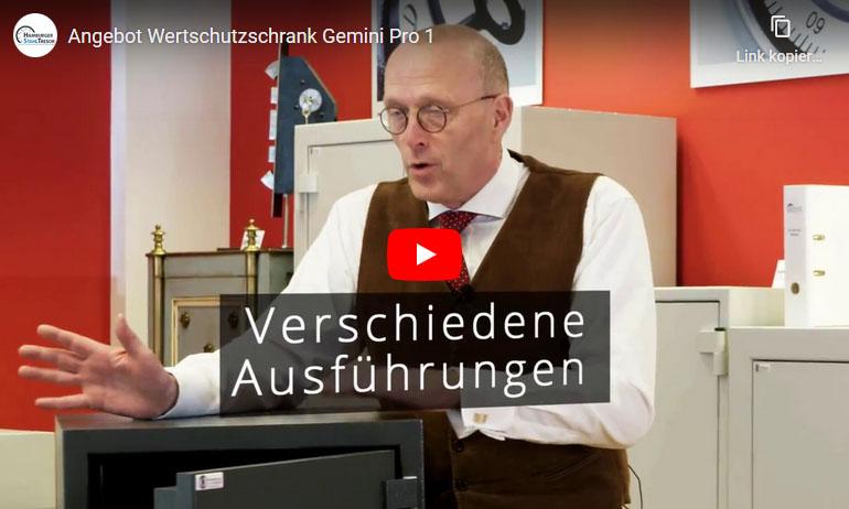 Video zum Wertschutzschrank Gemini Pro 1