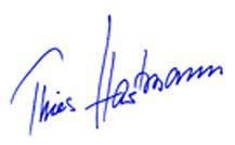 Thies Hartmann -Unterschrift